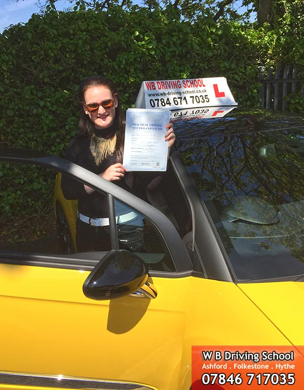 Christina - test pass Folkestone - May 2015