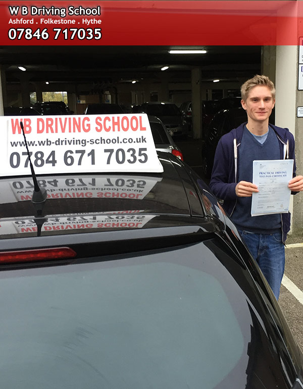 Tom passing test in Ashford
