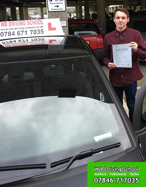 Kieren - passed test in Ashford