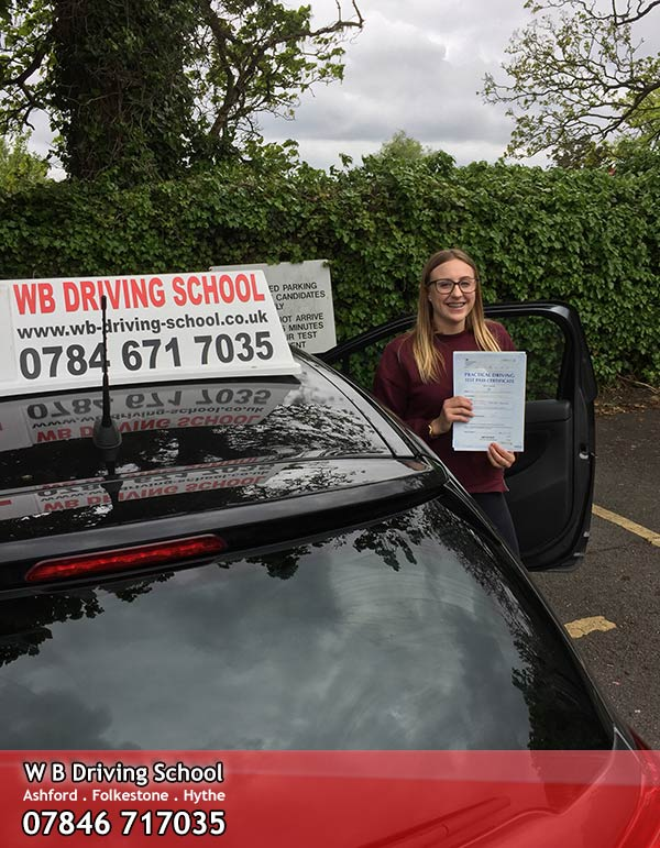 Well done Emily, a Folkestone test pass