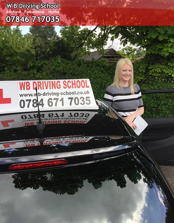 Congratulations Jasmine, drving test pass