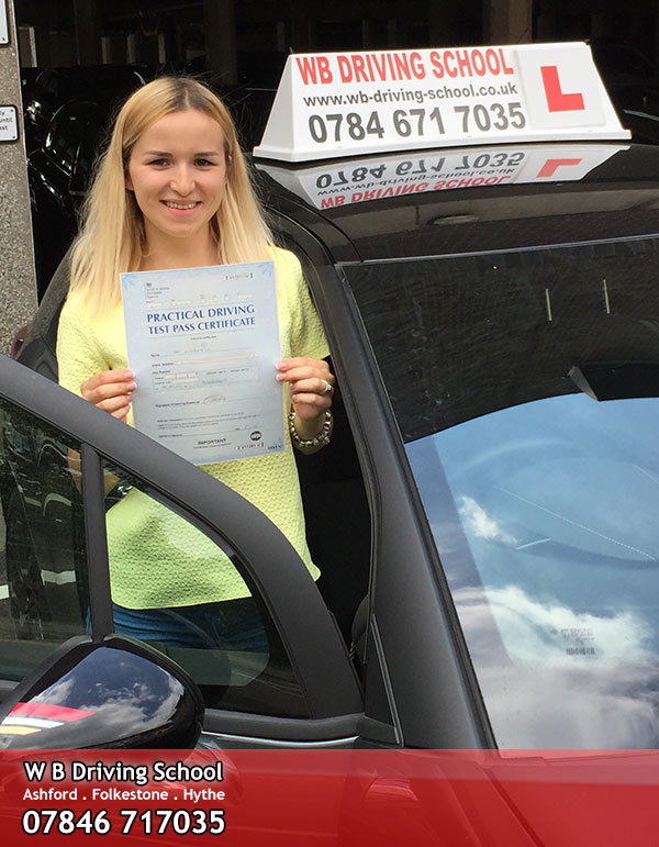 Well done Liza, an Ashford test pass