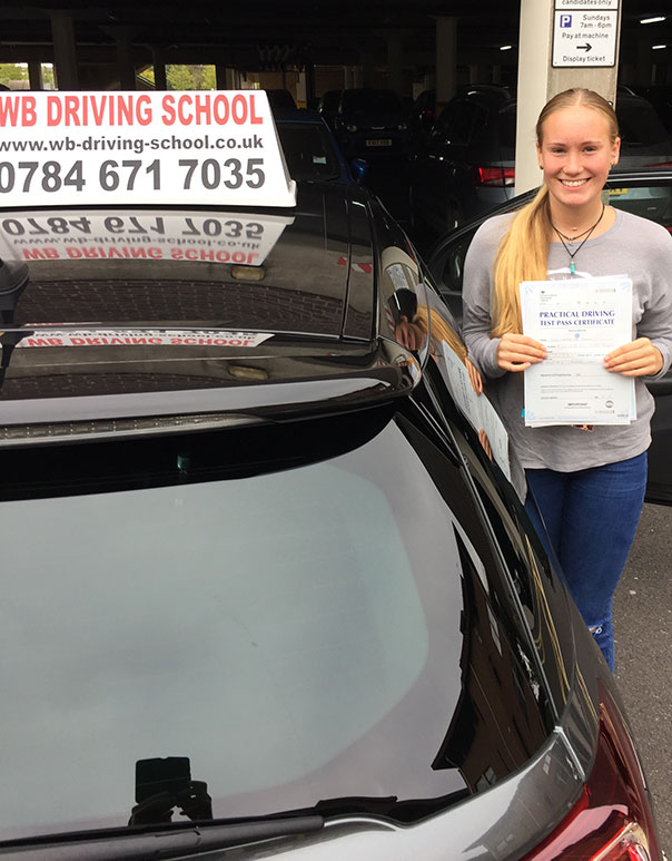 Well done Christie! Another driving test pass in Ashford