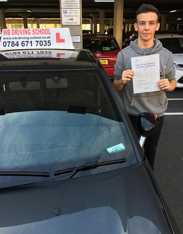 Well done Tom, another test pass in Ashford